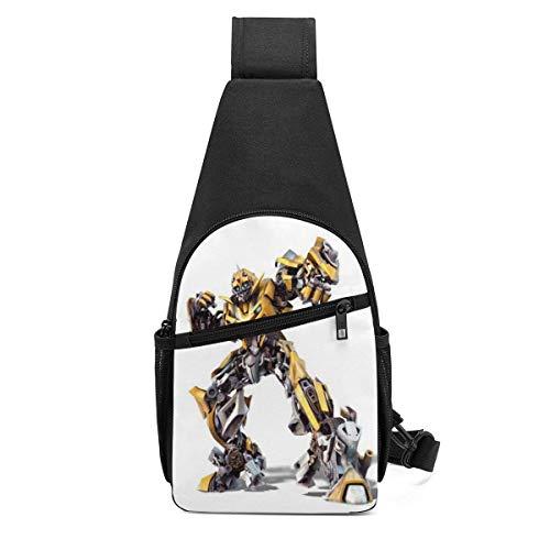 Trans-for-mers Bumblebee Sling Bag/Crossbody Mochila de Pecho/Bolsos de Hombro para Hombres Mujeres Viajes Senderismo Ciclismo Mochila Informal