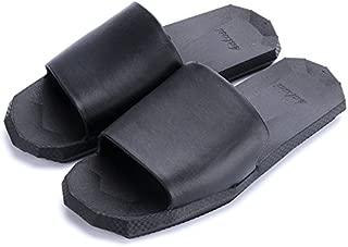 Summer Indoor Couple Slippers, Home Bathroom Men's Slippers, Non-Slip Wear-Resistant Comfortable Sandals,Black,38