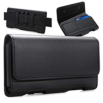 BECPLT for iPhone 12 Pro Max Holster Case iPhone 11 Pro Max Belt Clip Case,Leather Holster Pouch Belt Case with Card Holder for Apple iPhone Xs Max iPhone 11 XR 8 Plus 7 Plus 6s Plus 6 Plus Black