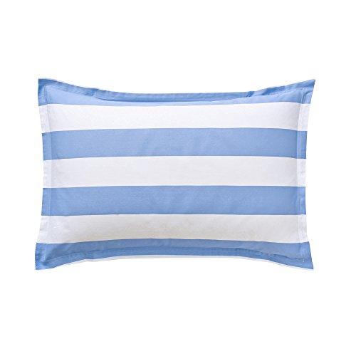 Essix - Taie d'oreiller Holidays Satin de coton Bleu Provence 50 x 75 cm