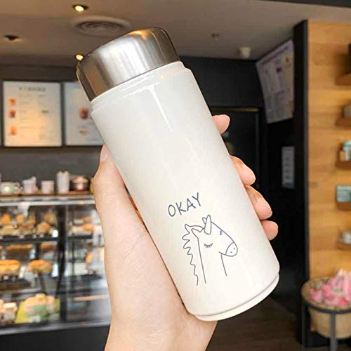DUKAILIN Travel Cupins Lovely Fresh and Cute Hot Cup Portable Student Sports Outer 304 Stainless Steel Insulated Water Cup