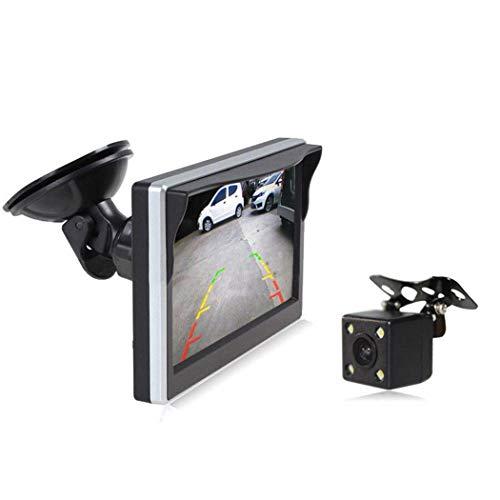 Sisaki 5 Zoll HD Reverse Backup Auto Kamera Saugnapf LCD-Display Rückfahrmonitor Rückspiegel-Videogeräte