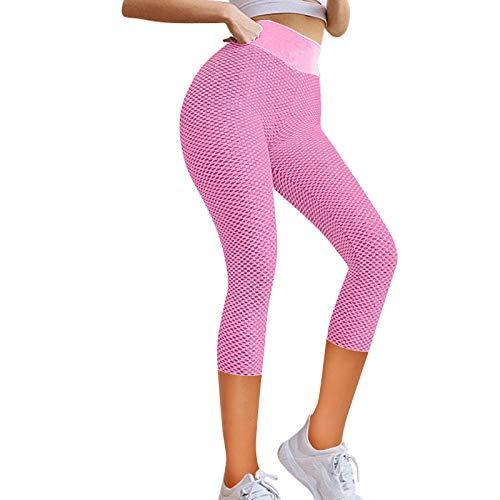 CUPPP Leggins Deportivos para Mujer, Push up Mallas Pantalones Cintura Alta Yoga Leggings Pantalón Moda Pantalones Sin Costuras para Fitness Running Deporte Elásticos y Transpirables