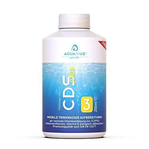 AQUARIUS pro life ® - CDSplus 250 ml - patentierte Chlordioxid Lösung I Konformität vom TÜV Rheinland bestätigt I CDL Tropfen I Chlorine Dioxide Solution I auf Wunsch aktivierbar I Das Original