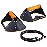 RHYTHM FUN 2-in-1 Magnetic Push Up Bars with Resistance Bands, Perfect Pushup Handles for Floor, Pushup Board for Fitness Equipment Pushup Stand Exercise Workout Equipment for Home Workout