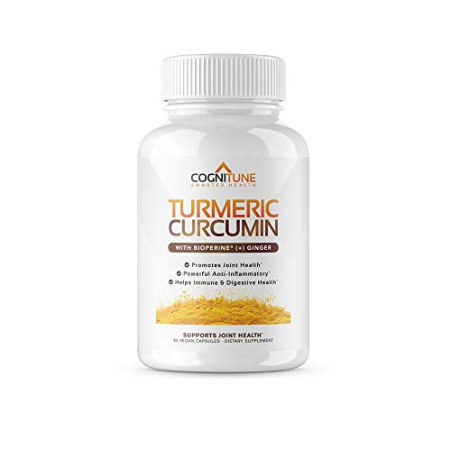Organic Turmeric Curcumin Supplement with BioPerine Black Pepper Extract & Ginger - Premium Natural 95% Curcuminoids - Extra Strength Anti-Inflammation, Joint Support, Pain Relief Pills - 60 Capsules