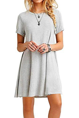 Falechay Vestidos Mujer Verano Casual de Camiseta Suelto Cue