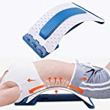 Acupressure Back Strether ,Multi-Level Back Stretching Device Lumbar Support for Spinal Sciatica Scoliosis Yoga, Lower Back Traction Massager for Pain Relief