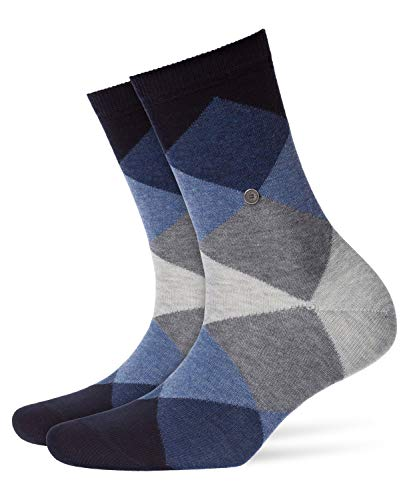 Burlington Damen Socken Bonnie, Baumwollmischung, 1 Paar, Blau (Dark Navy 6376), 36-41