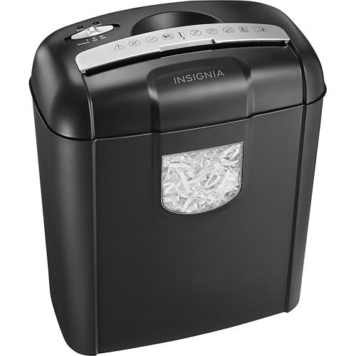 Cheapest Price! Insignia 6-Sheet Crosscut Shredder (NS-PS06CC) Black - New