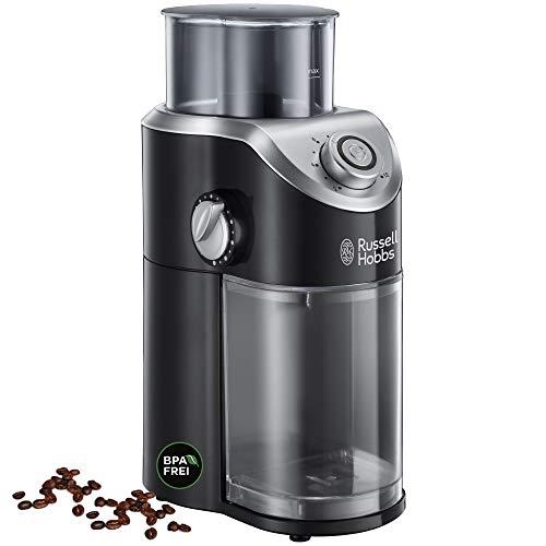Russell Hobbs Kaffeemühle Classics, hochwertiges Scheibenmahlwerk, elektrisch, variable Mahlgradeinstellungen für Kaffeebohnen, Nüsse, Gewürze, Getreide, 23120-56