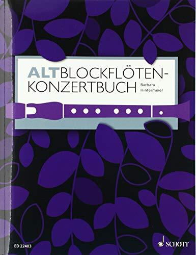 Altblockflöten-Konzertbuch: 60 Stücke aus 5 Jahrhunderten. Alt-Blockflöte und Klavier.
