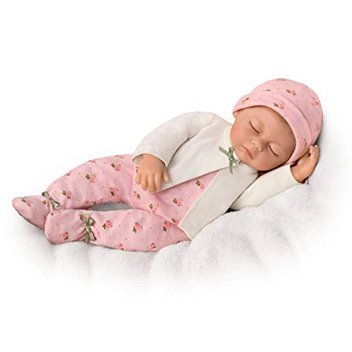 The Ashton - Drake Galleries 'Sleepytime Sophie' Tiny Miracles™ So Truly Real® Newborn Girl Baby Doll –Lifelike Realistic Reborn Doll With Realtouch® Vinyl Skin; Rooted Hair, Sleeper Ensemble
