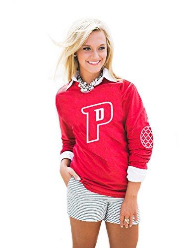 Gameday Couture NBA Damen Langarmshirt mit Puff Print Ellenbogen Patch All Teams, Damen, AEP14WA, rot, Small