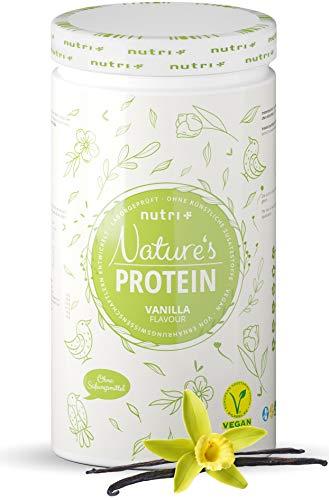 NATURES PROTEIN Vanille 500g - natürliches Proteinpulver ohne Süßungsmittel, Laktose, Zucker & Milch - 83,1{01a9d63660ac6e3569140da4c2aabe107223e805f391e3e9dcdb83d42f953426} Eiweiß - pflanzliches Eiweißpulver - Shake vegan & glutenfrei