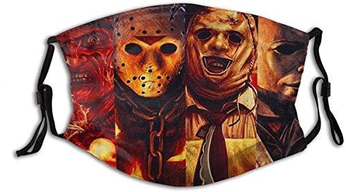 Halloween Scary Killer Freddy Jason Michael Horror men/woen made in USA breathable face mask washable reusable Adjustable Ear Loops