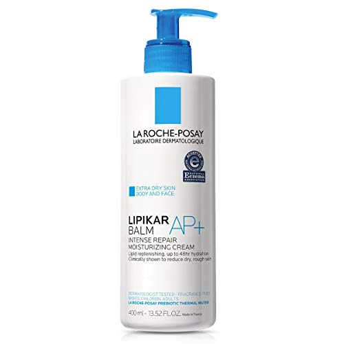 La Roche-Posay Lipikar Balm AP+ Intense Repair Body Cream for Extra Dry Skin & Sensitive Skin, Body Moisturizer to Hydrate & Soothe, Dermatologist Recommended, Fragrance-Free ( Packaging May Vary )