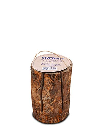 The Green Olive Firewood Company Swedish Eco Torch Large, Natural, 1 Single