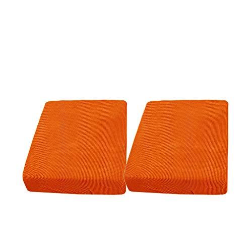 Gazechimp 2 Piezas 1 Plaza Color Naranja Tela de Licra Sofá Futón Cojín de Asiento Fundas Sofá
