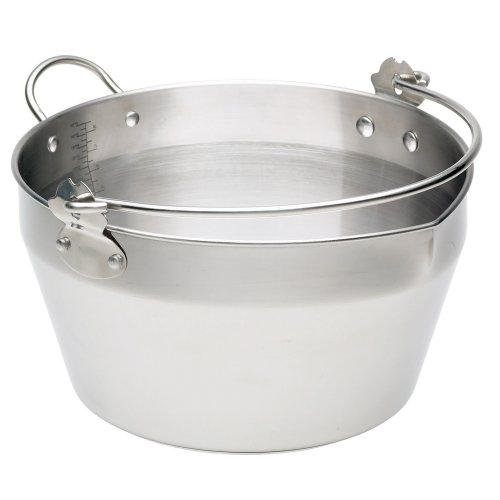 Kitchencraft Home Made Stainless Steel Maslin Pan With Handle, 9 Litre