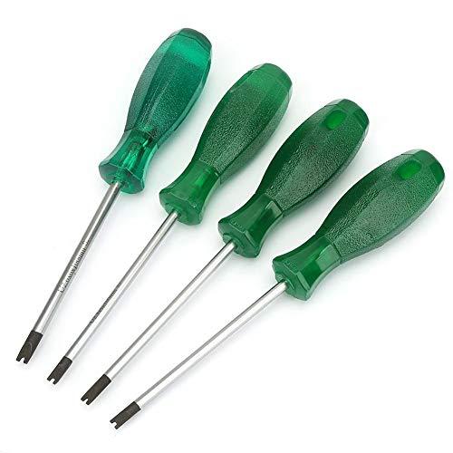 Schraubendreher-Set - 4 Stück Präzisions-U Typ Schraubendreher mit PVC Griff und S2 Stahl-Schraubenzieher-Rod