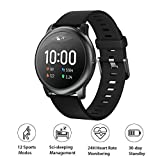 HAYLOU Solar Smartwatch, LS05 Orologio Fitness Sportivo,Solar 12 modalità Sport Controllo della Musica Monitoraggio della Frequenza Cardiaca 24 Ore su IP68 Impermeabile per Android iOS