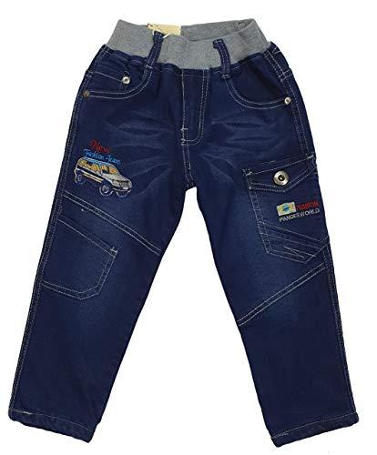 Fashion Boy warme Jungen Thermohose, Jeanshose in Blau, Gr. 104, JTn79.4