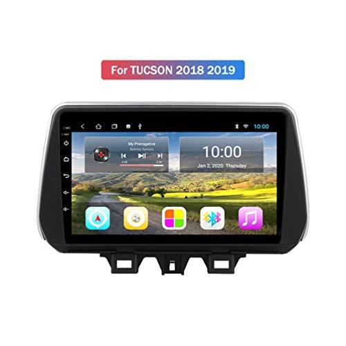 XMZWD 9in GPS Car Radio Multimedia Navigation Stereo Android 9.0 Car GPS DVD Player, para Hyundai Tucson Ix35 2018 2019 Soporte WiFi/Bluetooth/Control del Volante/Enlace Espejo