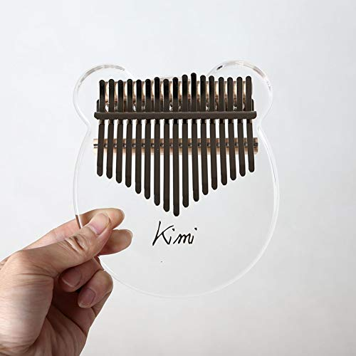 Mrinb Musical Instruments 17 Keys Kalimba Acrylic Thumb Piano Transparent Keyboard Instrument, Great Gift for Friends and Families.