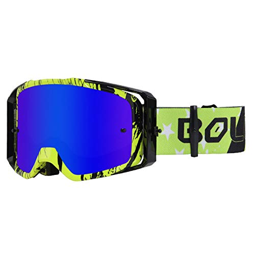 WholeFire - Gafas de motocicleta, ATV Dirt Bike Off Road Racing MX...