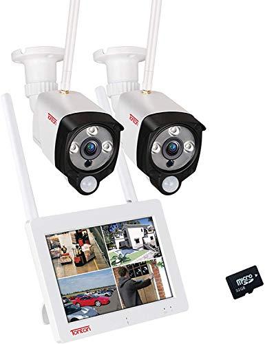 【2MP AI PIR+Akku Touchscrenn】 Tonton Überwachungskamera Außen mit Monitor 7