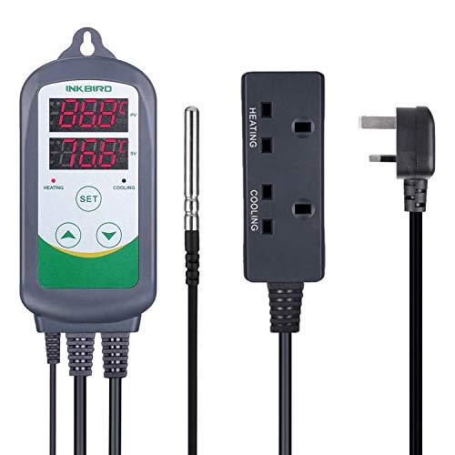 inkbird 220V itc-308uk Digital Temperatur Controller Thermostate für Haustier, Fisch, Aquarium, Reptil, Inkubator, Heizung Lampen Mats