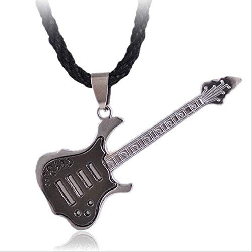 NC188 Necklace Necklace Stainless Steel Plating Rock Guitar Necklace Copper Titanium Stainless Steel Music Guitar Pendant Necklace for Men Jewelry Necklace Gift