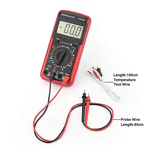 LCD Temperatur Tester Digital Multimeter AC/DC Spannung Strom Widerstand Kapazitätsmessgerät mit Batterie