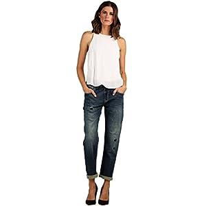 Modern Women's Distressed Drawstring Denim Joggers Pants