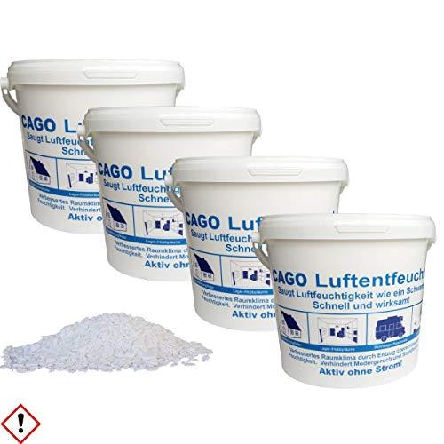 4x Luftentfeuchter Granulat 4,8 kg lose im 5 L Nachfülleimer 4er Set
