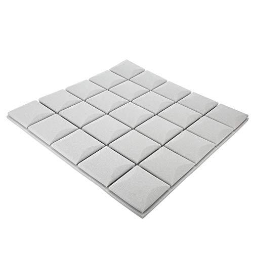 Fdit 6PCS Akustikschaumplatten, Silent Cotton, Schalldämmschaum Professionelle Schallschutzplatten, Wand Schallabsorbierende Baumwoll-Schockschutzplatten Flame(High-Density Gray)