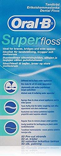 Price comparison product image Oral-B Super Floss Mint Dental Floss Pre-Cut Strands 50 ea