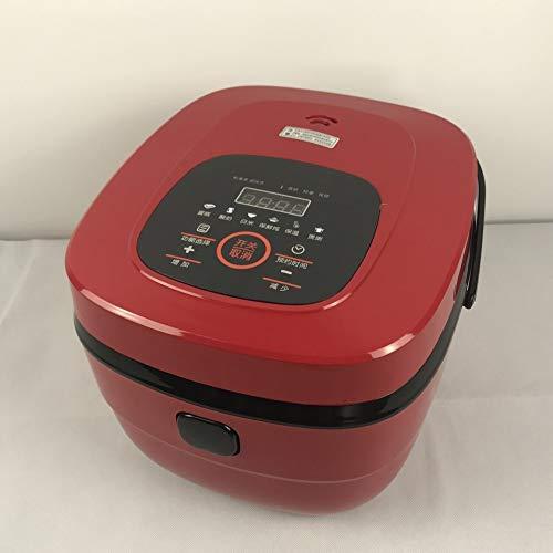 Rice cook Reiskocher Große Kapazität Multi-Funktions-Intelligente Reiskocher, Quadratische Reiskocher,rot,5L