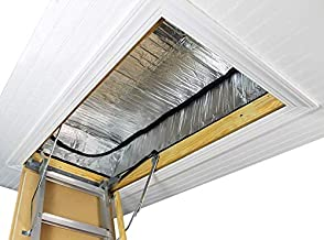 Premium Energy Saving Attic Door Insulation Stairway Cover R-15.5 Stair Ladder Opening Attic Tent with Easy Access Zipper 25