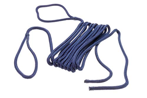 SEACHOICE - Cuerda de Guardabarros de Nailon Doble, Marino, 1/4' x 6'