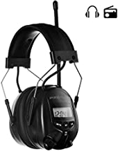 PROTEAR AM FM Radio Headphones for Mowing, Noise Reduction Rate 25dB,Radio Hearing Protection Safety Earmuffs for Mowing Lawn(Black)