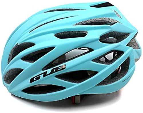 WANGZZZ fürradhelm M lich Mountainbike Helm Weißiche Licht Eingebauten Kiel Einteilige Sicherheitshut Stra Radfüren Ausrüstung, Blau