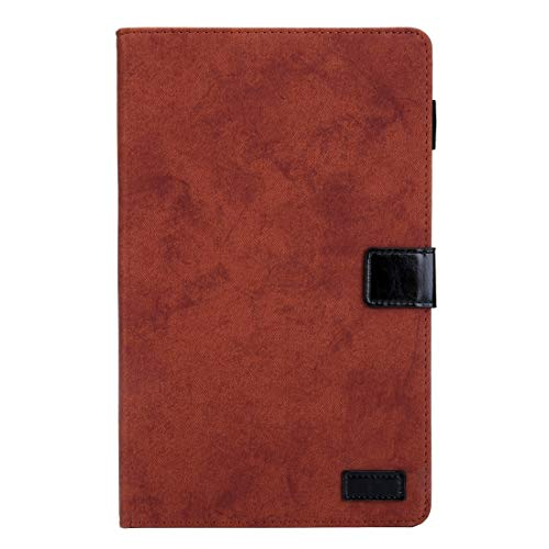 YUNCHAO For Galaxy Tab A 8.0 & S Pen (2019) Business Style Horizontal Flip Leather Case, with Holder & Card Slot & Photo Frame & Sleep/Wake-up Function(Grey) (Color : Brown)