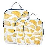 Sacchetto dell'organizzatore Spuntini croccanti e deliziosi Patatine Imballaggio Cubi dell'organizzatore di viaggio Sacchetti di compressione espandibili per il viaggio per bagaglio a mano, viaggio (