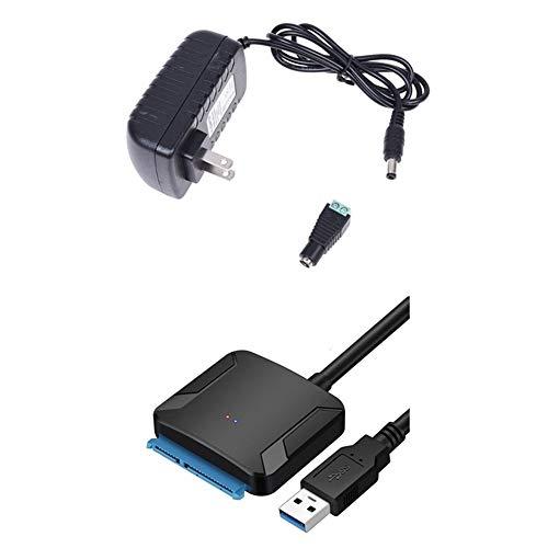Adaptador de la Fuente de alimentación de 1pcs 12V 2a Transformador 110-220V y 1pcs SATA a USB 3.0…