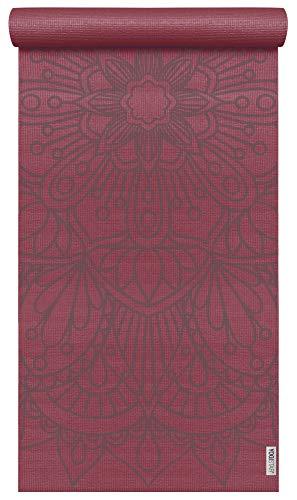 Yogistar Yogamatte Basic Art Collection Lotus Mandala Bordeaux