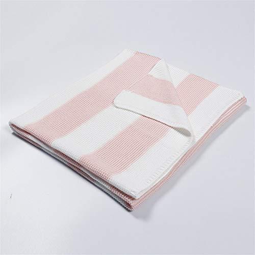 Bébé Couverture souple bébé fille unisexe doux Enveloppez Couverture Pram Lit Lit coton doux (Color : Pink, Size : 76x102cm)