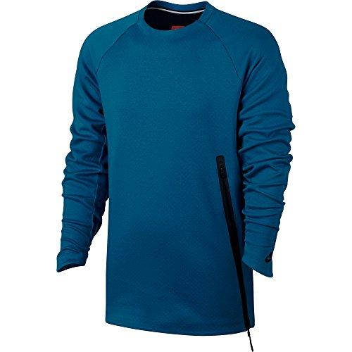 Nike Tech Fleece Crew Sweatshirt Homme, Bleu, FR : L (Taille Fabricant : 48/50)