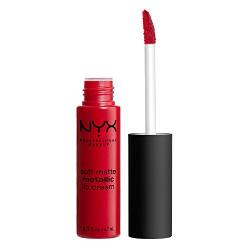 NYX PROFESSIONAL MAKEUP Soft Matte Metallic Lip Cream, Liquid Lipstick, Monte Carlo